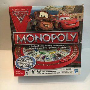 Monopoly Disney Pixar Cars 2 Vintage
